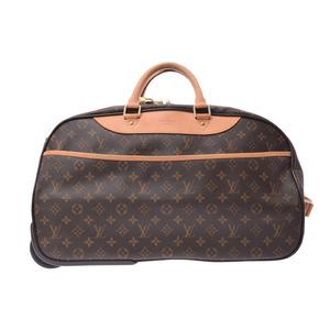 Louis Vuitton Monogram Eol 50 Brown M23204 Men's Women's Genuine Leather Carry Back Boston Bag A rank beautiful goods LOUIS VUITTON second hand silver storage