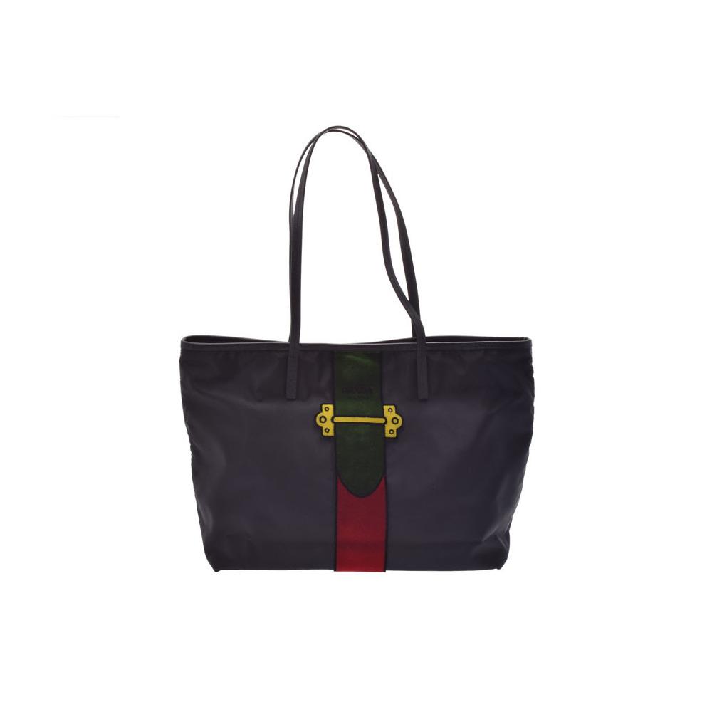 Prada Tote Bag Green Red Black Ladies Nylon Leather Velor Unused beauty  item PRADA Sky Gala ... 97bf212f9ecb4