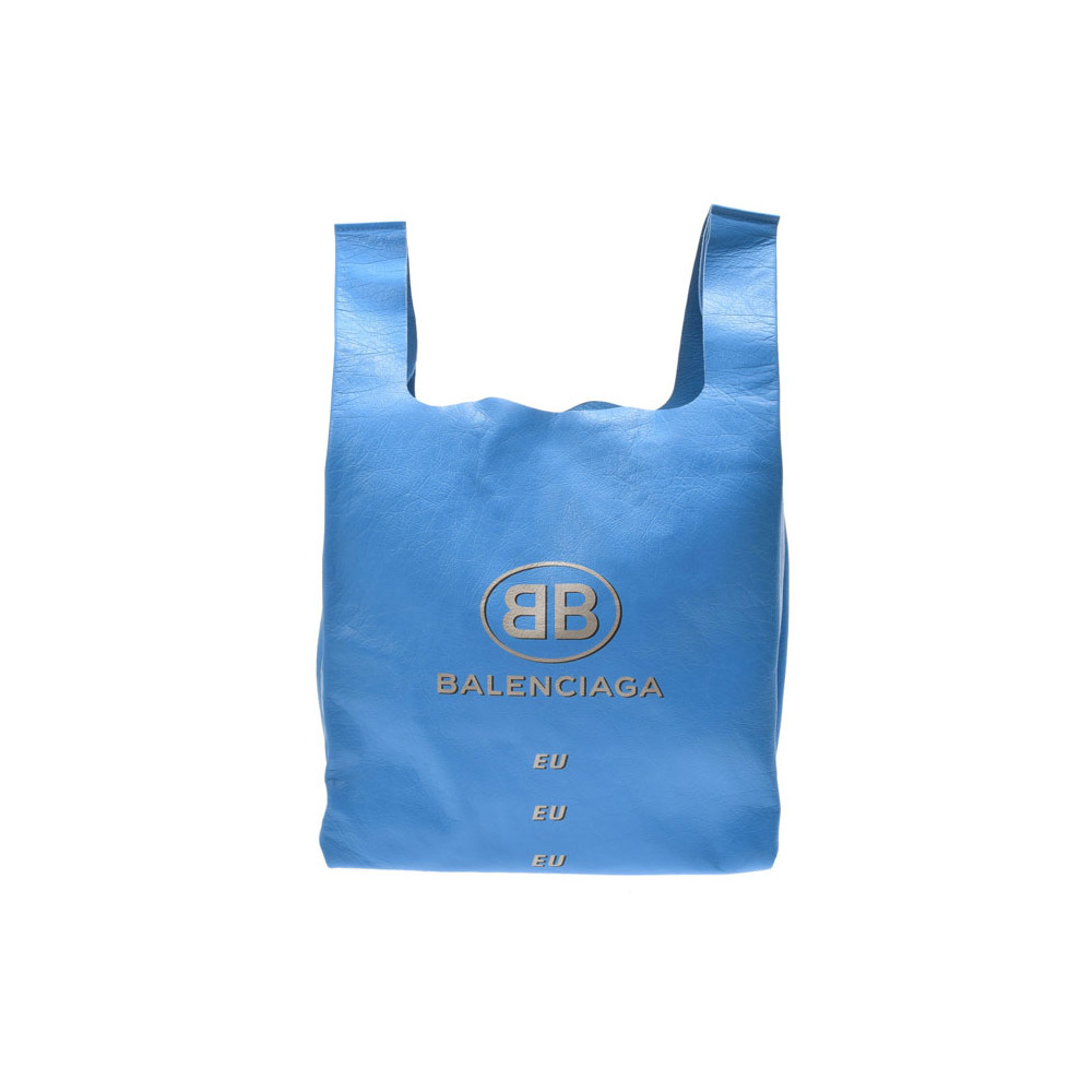 7b04d752116cb Balenciaga Supermarket Shopper Blue Ladies Men s Lambskin Bag Unused Beauty  Item BALENCIAGA Used Ginza