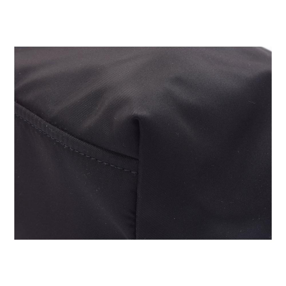 0144767a51032 Prada Tote Bag Pink Black Ladies Nylon Leather Velor Unused beauty ...