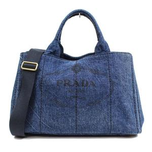 b6f578a2315e Prada PRADA Kanapa 2 WAY Tote B 264 Denim Blue Women s
