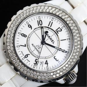 Chanel CHANEL J12 H0969 Automatic winding ceramic white diamond bezel men's watch