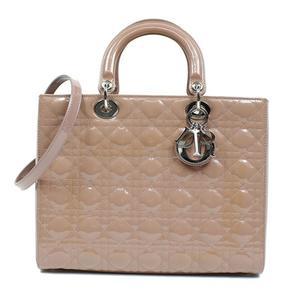 Christian Dior Lady 2WAY Handbag VRB44561 Pink Beige