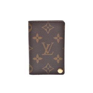 ルイ・ヴィトン(Louis Vuitton) ルイヴィトン モノグラム ポルトカルトクレディプレッシオン ポケット7枚 ブラウン M60937 メンズ レディース 本革 カードケース ABランク LOUIS VUITTON 中古 銀蔵