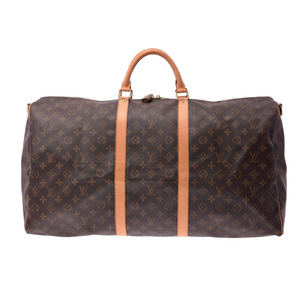 ルイ・ヴィトン(Louis Vuitton) ルイヴィトン モノグラム キーポル60 ブラウン M41412 メンズ レディース 本革 ボストンバッグ Bランク LOUIS VUITTON ストラップ付 中古 銀蔵
