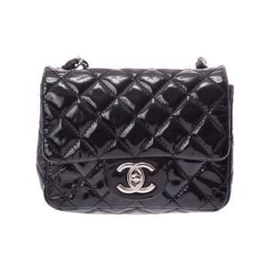e4072488d5e3 Chanel Mini Matrasse Chain Shoulder Bag Black SV Hardware Women's Enamel B  Rank CHANEL Galler Used