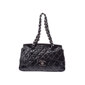 31e60e1ff31c Chanel Matrasse chain shoulder bag black SV metal fittings ladies enamel AB rank  CHANEL second hand