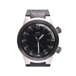 IWC アクアタイマー 黒文字盤 IW354808 メンズ SS/ラバー 自動巻 腕時計 Aランク 美品 中古 銀蔵