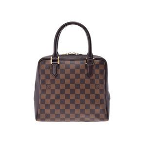 Louis Vuitton Damier Brera Brown N51150 Ladies' real leather handbag A rank LOUIS VUITTON second hand silver storage