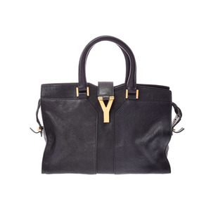 Saint Laurent Cavas chic mini black ladies calf 2 WAY handbag B rank YVES SAINT LAURENT second hand silver storage