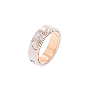 Cartier secret love ring # 49 Men's lady's SS / YG 10.3 g AB rank CARTIER box gallery stringed second hand silver finish