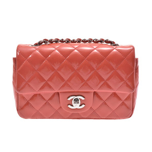 Chanel Matrasse Chain Shoulder Bag Salmon Pink SV Hardware Women's Enamel AB Rank Box Galla CHANEL Used Ginza