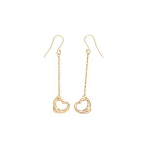 Tiffany Open Heart Earrings Women's YG 2.9 g A Rank 美 品 TIFFANY & CO second hand silver storage