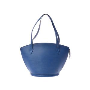 Louis Vuitton episunjack shopping blue M52265 ladies' real leather shoulder bag A rank LOUIS VUITTON second hand silver storage