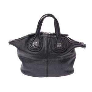 ジバンシィ(Givenchy) ジバンシィ ナイチンゲール ミニ 黒 レディース カーフ 2WAYバッグ Bランク GIVENCHY 中古 銀蔵