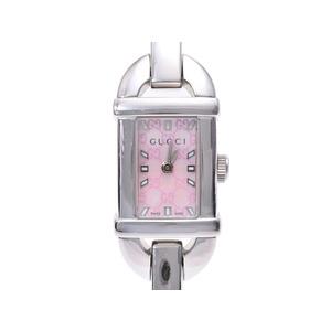 グッチ 6800L ピンクシェル文字盤 レディース SS クオーツ 腕時計 ABランク GUCCI 箱 ギャラ 中古 銀蔵