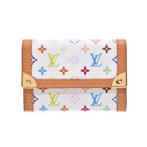 ルイ・ヴィトン(Louis Vuitton) ルイヴィトン マルチカラー コインケースプラ 白 M92657 レディース 本革 Bランク LOUIS VUITTON 中古 銀蔵