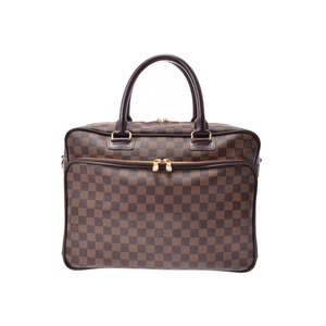Louis Vuitton Damier Ikar Brown N23252 Men's Genuine Leather 2WAY Business Bag A rank LOUIS VUITTON with used strap Used silver storage