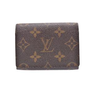 ルイ・ヴィトン(Louis Vuitton) ルイヴィトン モノグラム アンヴェロップカルトドゥヴィジット ブラウン M62920 メンズ レディース 本革 名刺入れ カードケース Bランク LOUIS VUITTON 中古 銀蔵