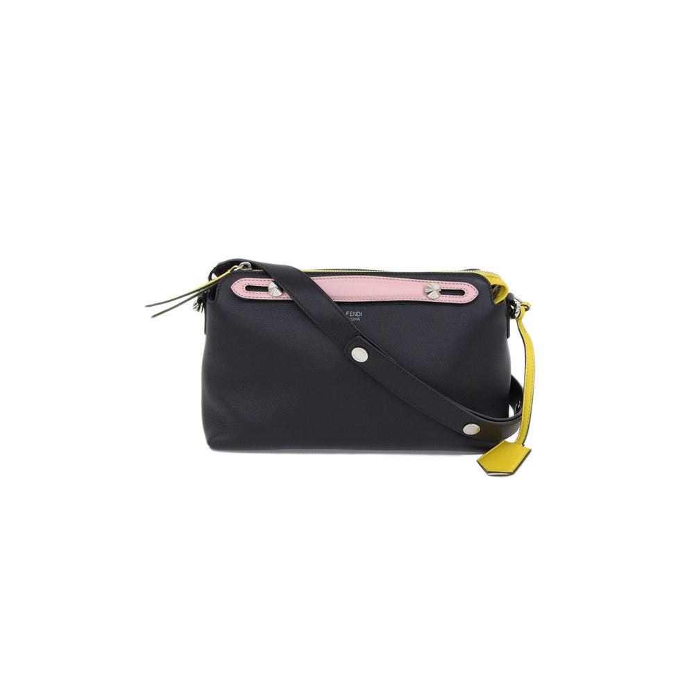 Genuine FENDI Fendi BY THE WAY 2 Bag Nero Black Pink Yellow Designation Number: 8BL124 Leather