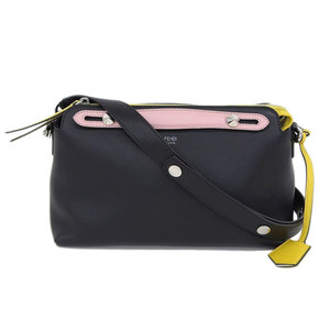 Genuine FENDI Fendi BY THE WAY 2 Bag Nero Black Pink Yellow Designation Number: 8BL124 Leather