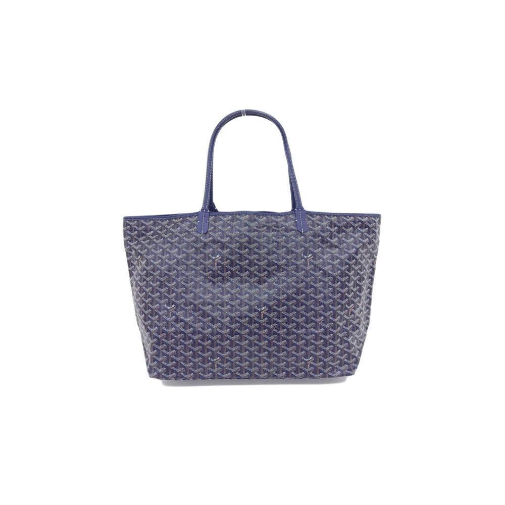 Genuine GOYARD Goyar Saint Louis GM Tote Bag Blue Leather