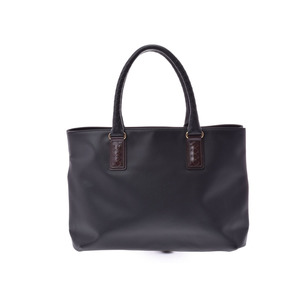 Bottega Veneta Marco Polo Tote Bag Black Men's Polyurethane New Shimamoto Item BOTTEGA VENETA Used Ginza