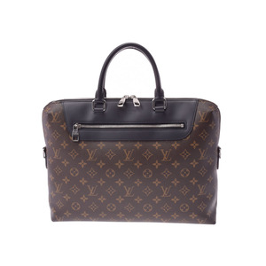 Louis Vuitton Monogram MACHANDER PDJ NM BROWN / BLACK M 54019 MEN'S Genuine Leather Business Bag Documents New Removal Products LOUIS VUITTON Used Ginza with Strap