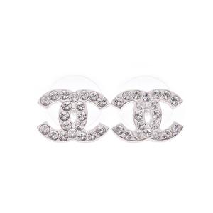 シャネル(Chanel) シャネル ココマーク ピアス 03年モデル レディース ラインストーン SV金具 Aランク 美品 CHANEL 中古 銀蔵