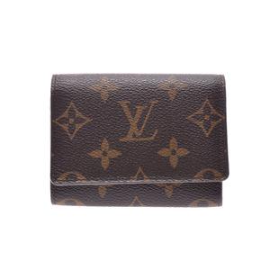 ルイ・ヴィトン(Louis Vuitton) ルイヴィトン モノグラム アンヴェロップカルトドゥヴィジット ブラウン M62920 メンズ レディース 本革 名刺入れ カードケース ABランク LOUIS VUITTON 中古 銀蔵