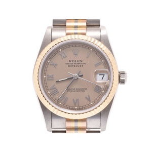ROLEX Datejust 68279 BIC Brown type dial Women's WG / YG PG Automatic winding wristwatch A rank 美 品 Kurosawa Used Ginza