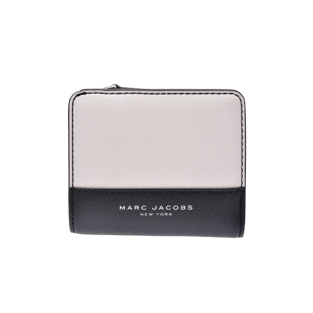 8cedf7fea0 Marc Jacobs Compact Wallet White / Black Ladies Safiano Outlet Unused MARC  JACOBS Used Ginza