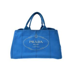 プラダ(Prada) プラダ カナパ アズーロ BN1872 レディース キャンバス トートバッグ ABランク PRADA ギャラ 中古 銀蔵