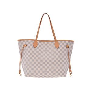 Louis Vuitton Azur Never Full MM N 51107 White Ladies Leather Tote Bag AB  Rank LOUIS c631636154c