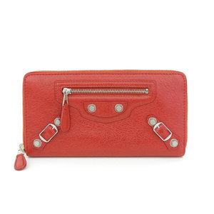 Real BALENCIAGA Balenciaga Giant Continental long wallet red leather