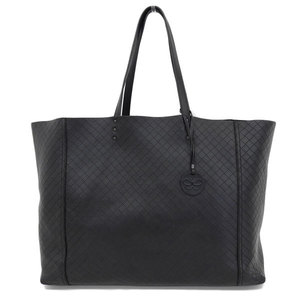 Genuine Bottega Veneta Inn Trechio O Mirage Calf Tote Black 298782 Bag Leather