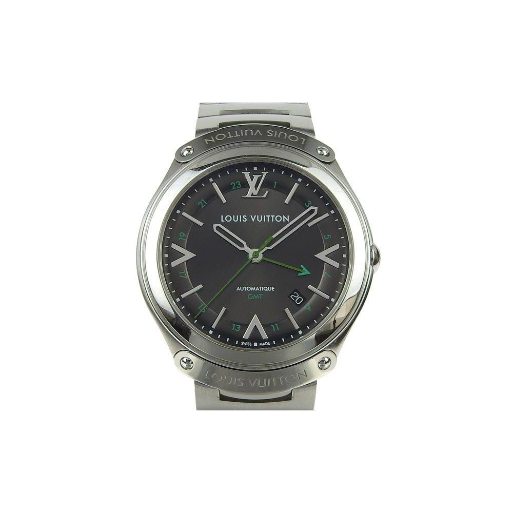 Genuine LOUIS VUITTON Louis Vuitton Fifty Five GMT Men's Automatic Watch Model Number: Q6D30 Wrist