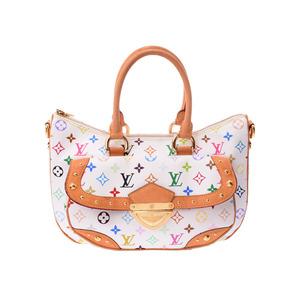 Louis Vuitton Multi Color Rita White M 40125 Ladies Leather 2 Way Handbag B Rank LOUIS VUITTON Used Ginza
