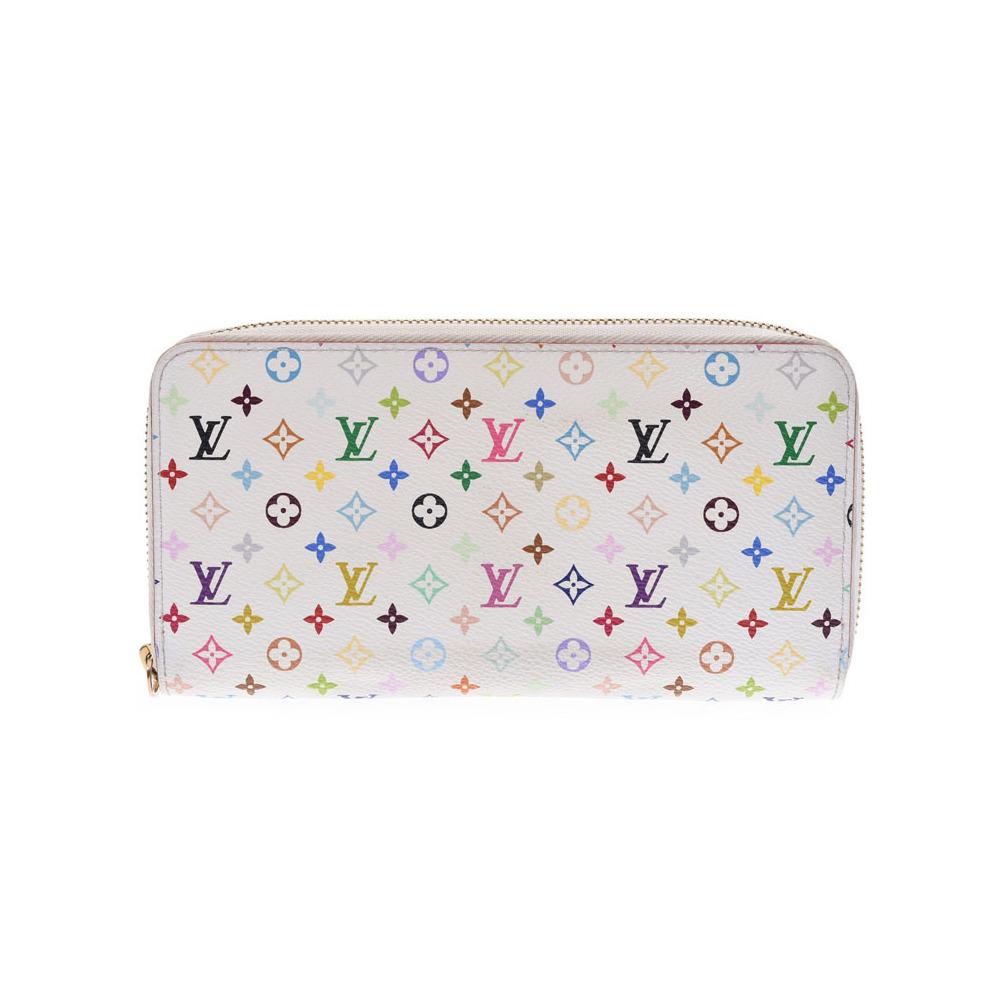 d59861eba3e8 Louis Vuitton Multi Color Zippy Wallet White   Pink M60241 Ladies Leather  Long Purse B Rank LOUIS ...