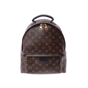Louis Vuitton Monogram Palm Springs Backpack MM Brown M41561 Ladies Men's Genuine Leather A Rank LOUIS VUITTON Used Ginza