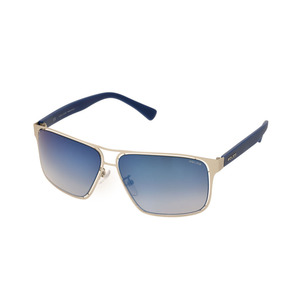 Police Sunglasses Blue / Metal OFFSIDE 2 S8955-581B Men's Women's New Item POLICE Case with