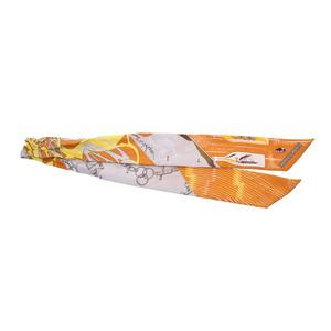 エルメス(Hermes) エルメス ツイリー オレンジ系 レディース シルク100% Bランク HERMES 中古 銀蔵