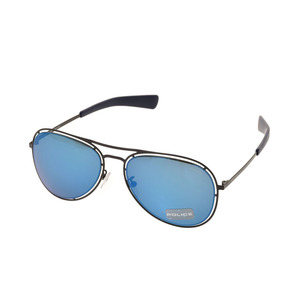 Police sunglasses teardrop Blue / Metal OFFSIDE 3 S8960-531B Men's Women's New article POLICE Case with a case