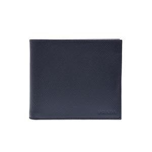 Prada futoshi wallet Navy 2 MO 738 Men's saffiophone A rank 美 品 PRADA Box Gala Used Ginza