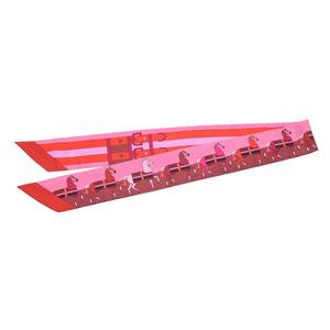 Hermes twillie horse pattern belt red / pink ladies' silk 100% new item HERMES box silver storage