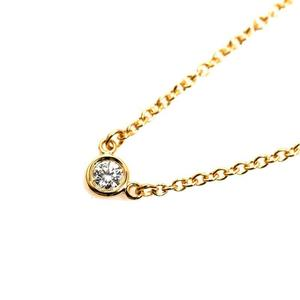 Tiffany TIFFANY & CO Diamond Byersard Pendant K18YG Ladies Necklace Jewelry Finished