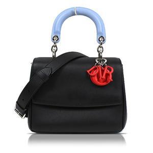 Christian Dior Beardieol Black Silver Hardware 2 Way Handbag Dece