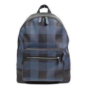 Coach COACH West Backpack Plaid F31291 Blue Multi Men's
