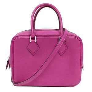 HERMES Purum 2 Mini Chevremisol Rose Purple A Stamped Handbag Women's