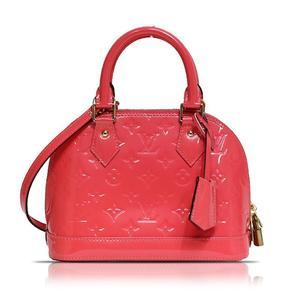 Louis Vuitton LOUIS VUITTON Monogram Verni Alma BB M90259 Rose Rich Handbag Ladies'